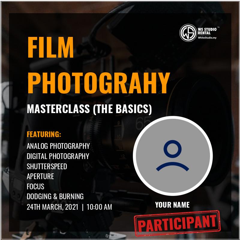 FIlm Photography Masterclass (Attendee Badge)