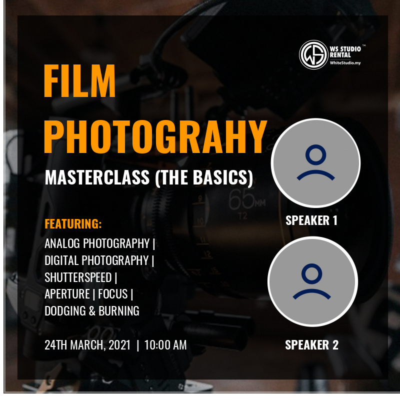 FIlm Photography Masterclass (Speaker's Badge)