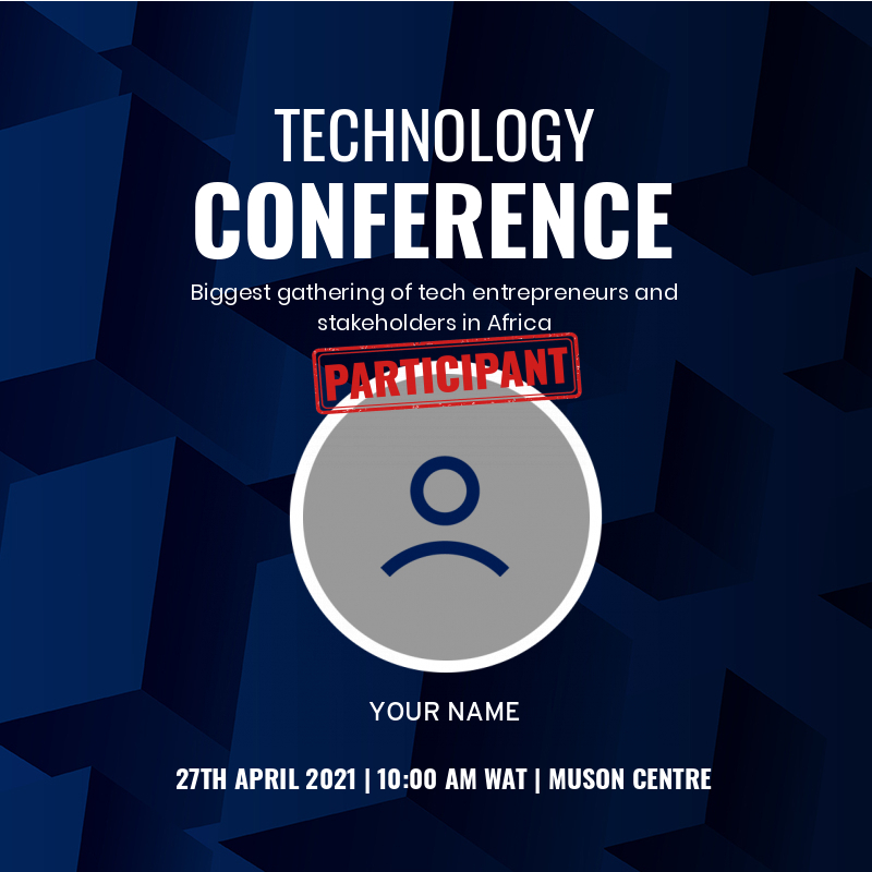 Technology Conference (Attendee's Badge)